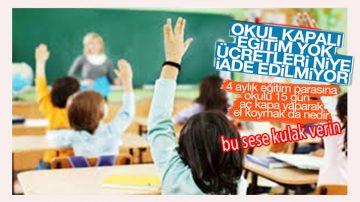 Özel Okullar Mağdur Etti