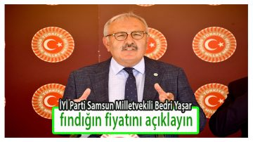 """Milletvekili Yaşar:""""Fındık Fiyatı Açıklansın"""""""
