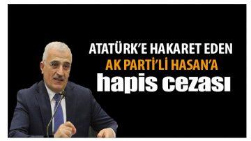 Atatürk'e Hakarete 1yıl Hapis