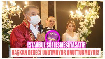 Deveci İstanbul Sözleşmesi Kitapçığı Dağıtıyor