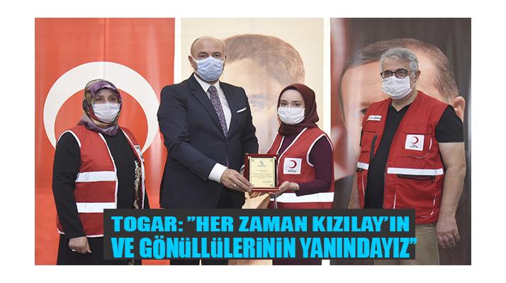 Başkan Togar, Kızılay Gibi Çalışıyor