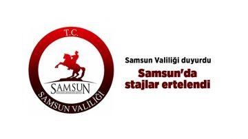 Samsun'da Stajlara Pandemi Ertelemesi