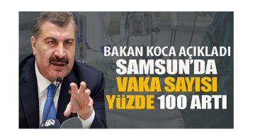 Samsun'da Vakalar yüzde 100 arttı!