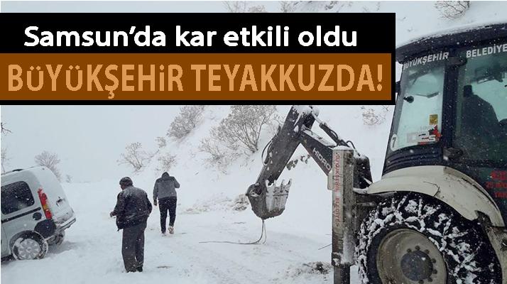 Samsun'da Kar ile Mücadele