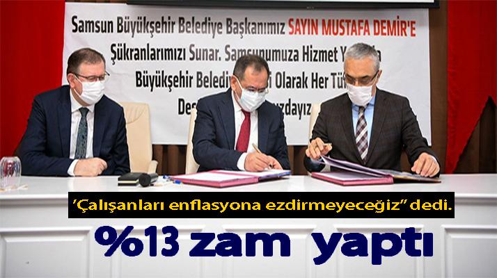 Samsun Büyükşehir'de Sözleşme Sevinci!