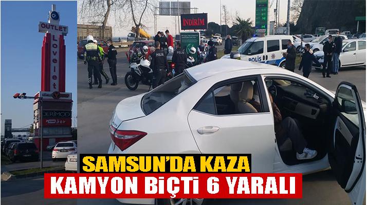 Samsun'da Kaza 6 Yaralı