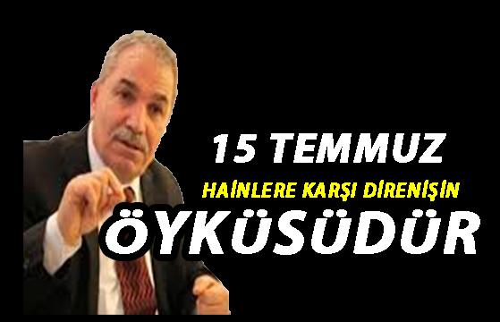 """Başkan Demirtaş:""""15 Temmuz"""""""